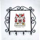 Family Crest Coat of Arms Key Hooks PERSONALISED, ref FCKH